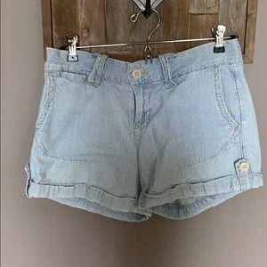Lucky brand railroad stripe shorts